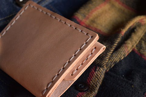 Handmade Leather Insider Wallet Quality Heirloom Craft and Lore