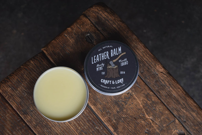 Leather Care Balm Conditioner Protectant Preservative Handmade Natural Quality PNW Craft and Lore