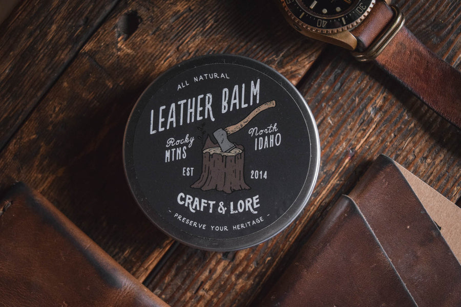 565ff3b5313c Leather Care Balm Conditioner Protectant Preservative Handmade Natural  Quality PNW Craft and Lore