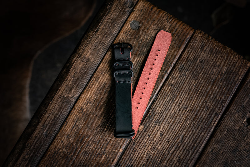 LIMITED - NATO Watch Strap Black Cherry Ghost
