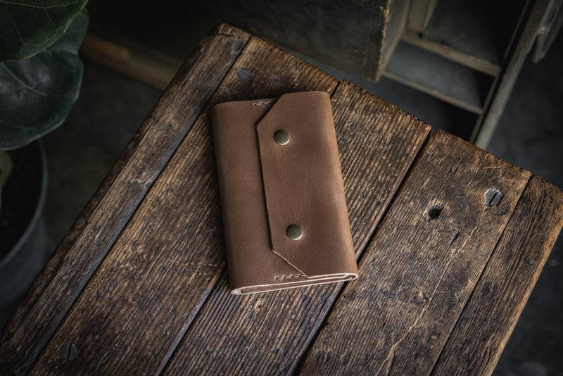 Horween Chromexcel Dublin Northwestward Field Notes, handmade leather notebook wallet durable usa pnw rugged tough log book journal pocketbook passport travel
