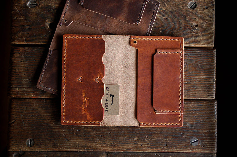 Operator Wallet Horween Dublin and Chromexcel handmade leather quality