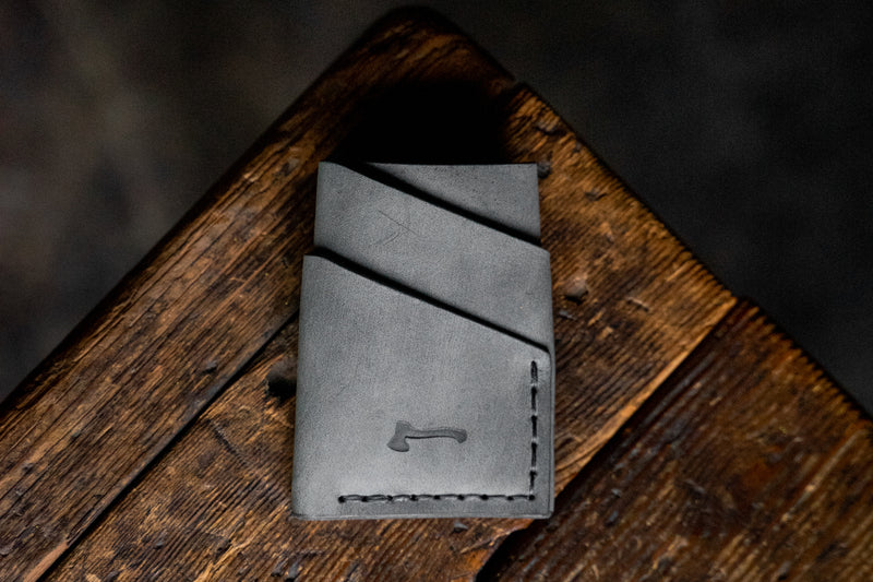 Scotch Slate - Limited Run handmade leather wallets craft and lore quality pnw northwest durable rugged usa american quality bespoke unique card minimal