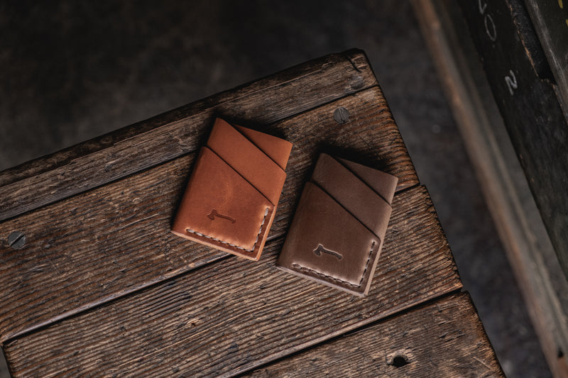 Port Wallet, Compact Slim Horween Chromexcel Dublin Leather Minimal Card Wallet Handmade Everyday Carry
