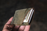 Twobit Wallet Minimal Leather Card Wallet Handmade Horween Reversed Shell Cordovan PNW USA