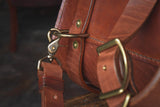 Waylander Satchel, Heavy Duty Leather Messenger Bag Handmade Backpack USA Quality Heirloom