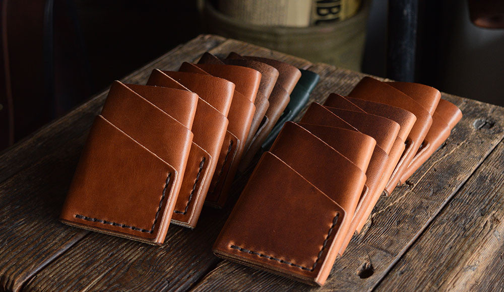 Handmade Leather Port Wallet Minimal Card Wallet