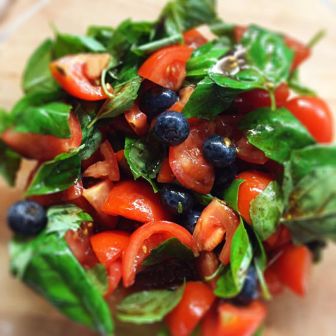 Blueberry Basil Salad *Superfood *Vegan