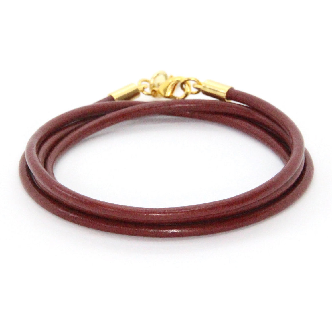 Gold + Ox Blood Leather Wrap