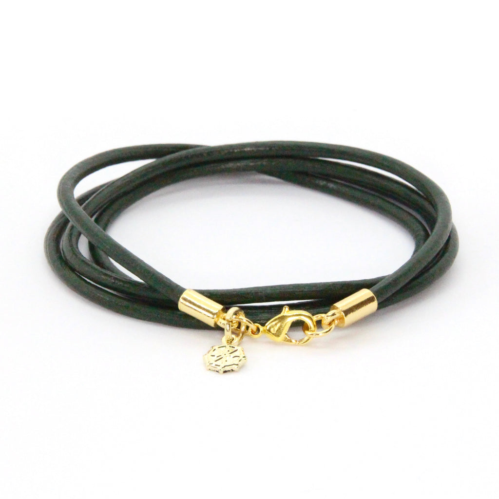 Gold + Hunter Leather Wrap