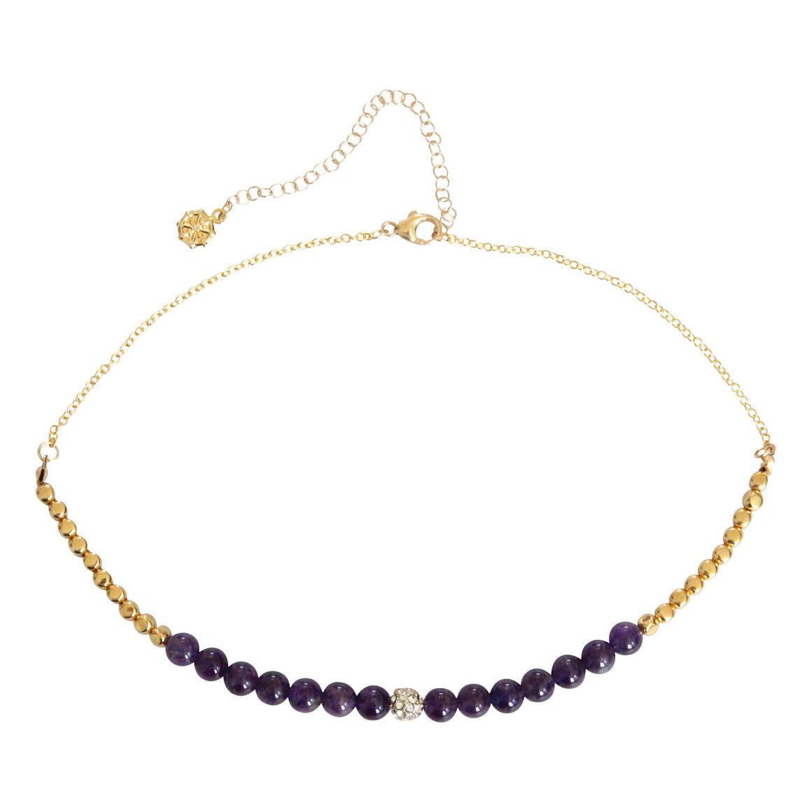 amethyst gemstone choker necklace