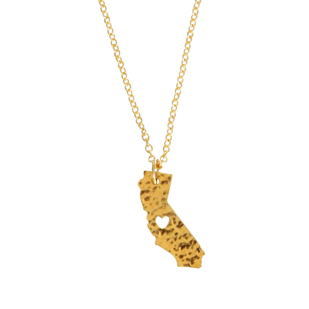 gold california love necklace