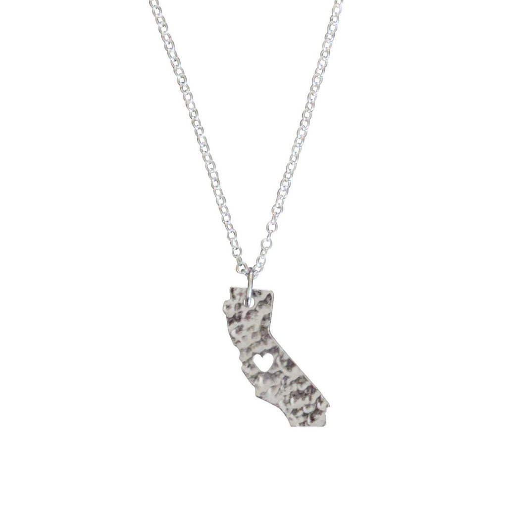 silver California love necklace
