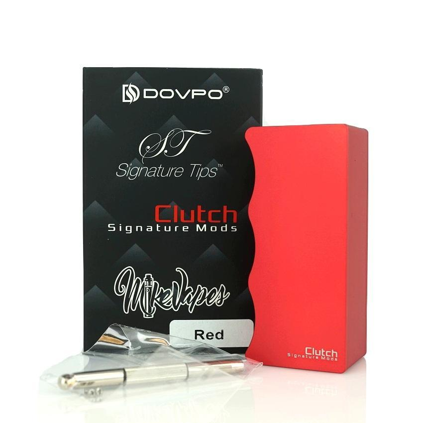 Mike Vapes Clutch 21700 Mechanical Squonk - Red Device with Extras | Hazetown Vapes Mississauga Ontario Canada
