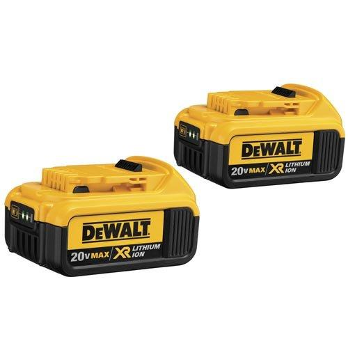 DEWALT DCB204-2 20V Max Premium XR Lithium Ion Battery 2-Pack