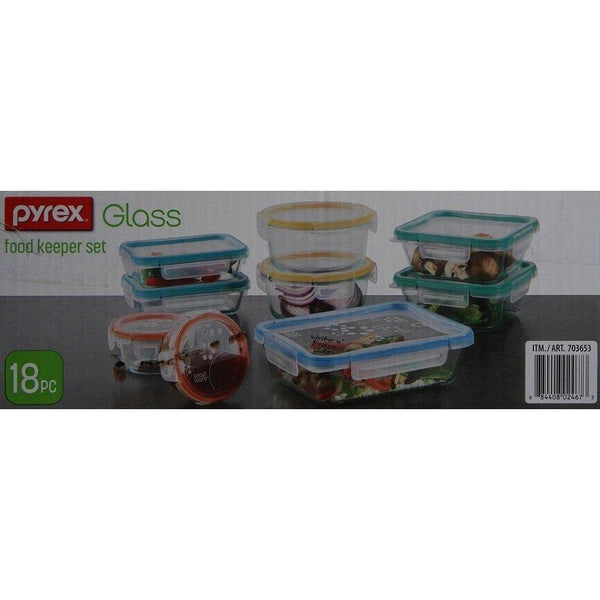 Snapware 18PC Total Solution Pyrex Glass Food Keeper Set