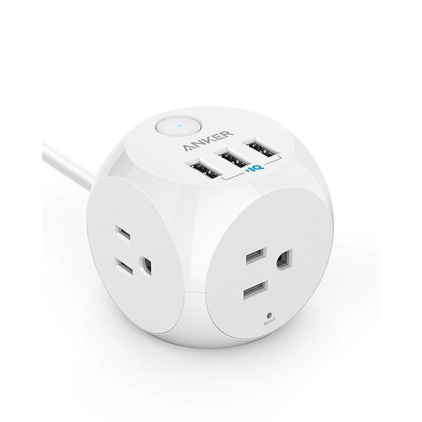 Anker PowerPort Cube With 3 AC Outlets & 3 USB Ports