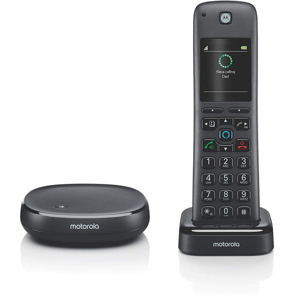 Motorola AXH01 DECT 6.0 Smart Cordless Phone and Answering Machine
