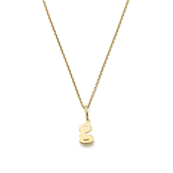 Sarah Chloe Initial Charm on Chain