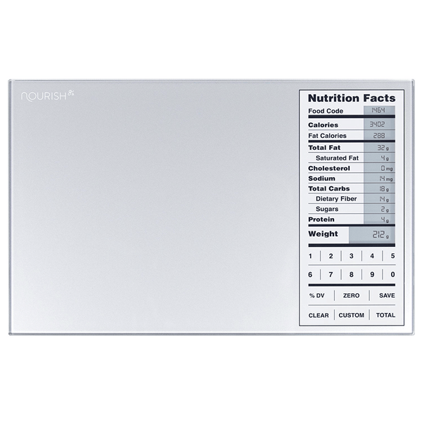 Nourish Digital Kitchen Food Scale and Portions Nutritional Facts Display by Greater Goods