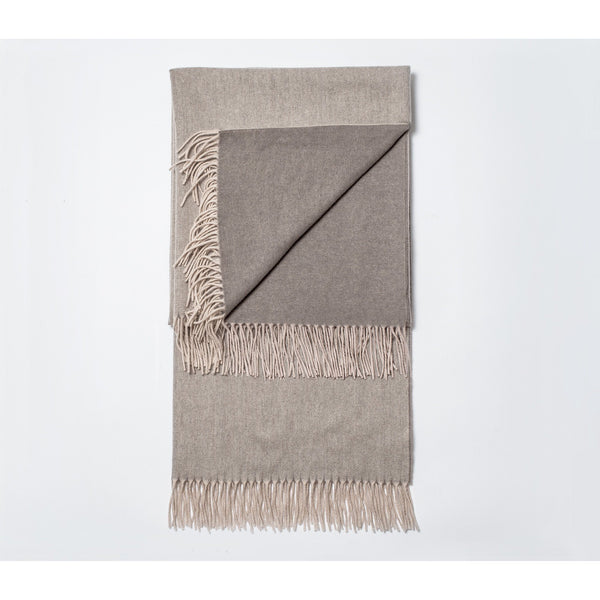 Snowe Fringed Cashmere-Wool Blend Throw Blanket