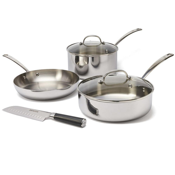Brigade Kitchen Stainless Steel Cookware 4pc Set