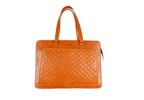 Orange Solid Laptop Bag
