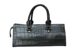 Black Croco Shoulder bag
