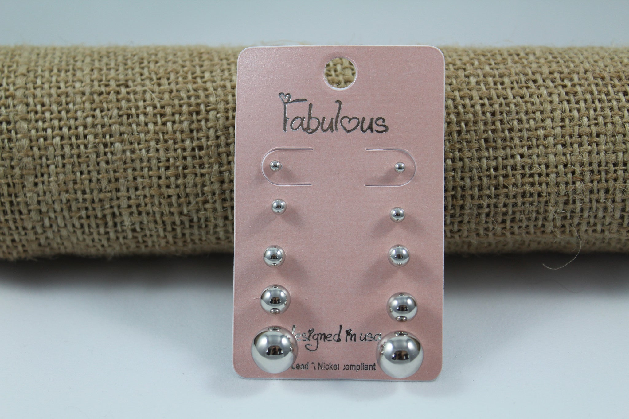 Metallic Stud Earring Set - My Pink Hanger