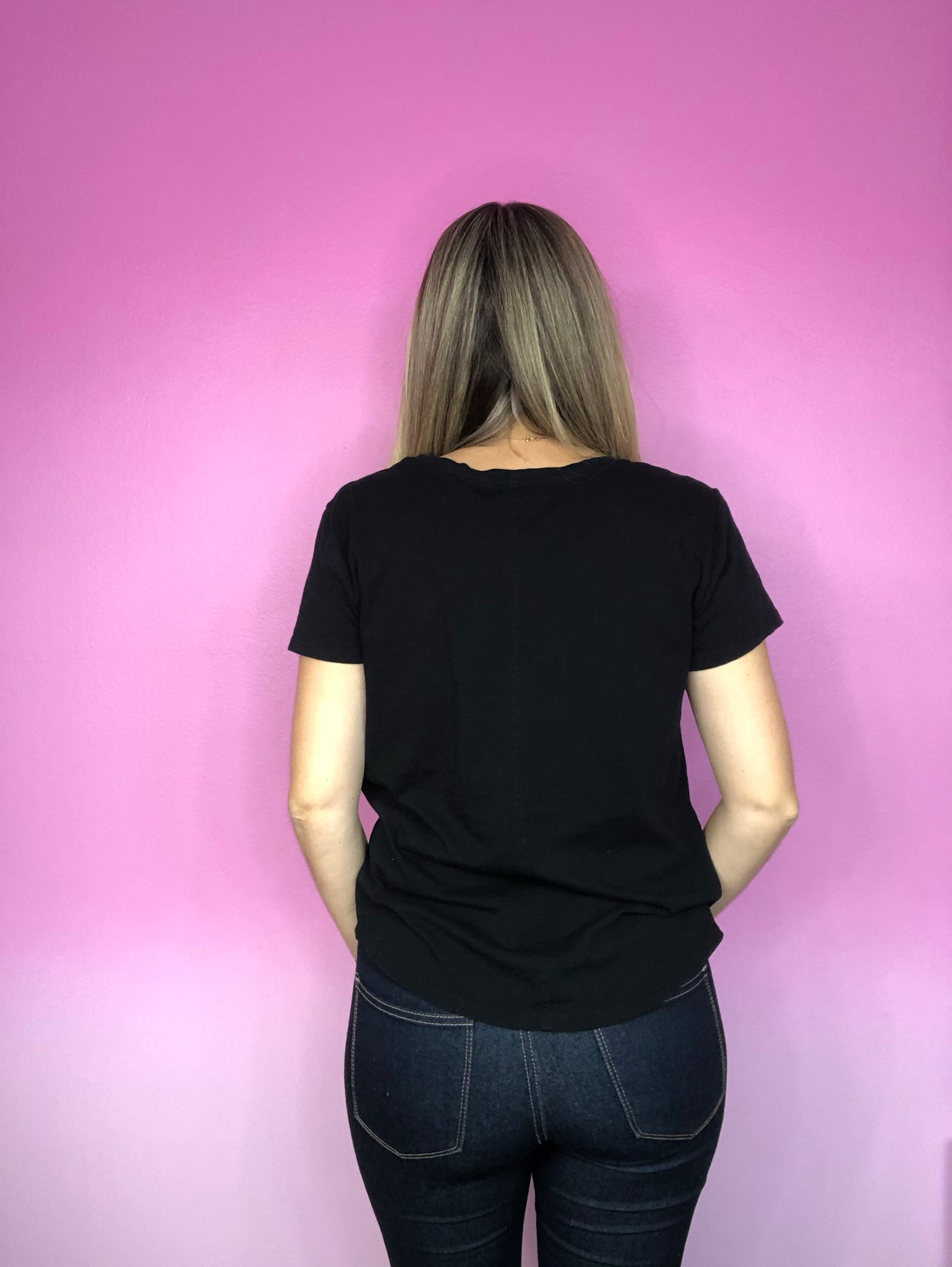 Rescue Reuse Resell Black LOFT Pocket Tee - My Pink Hanger