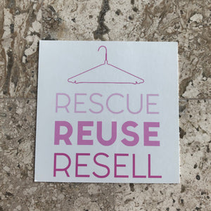 Rescue Reuse Resell Cling - My Pink Hanger