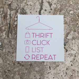 Thrift Click List Repeat Cling - My Pink Hanger