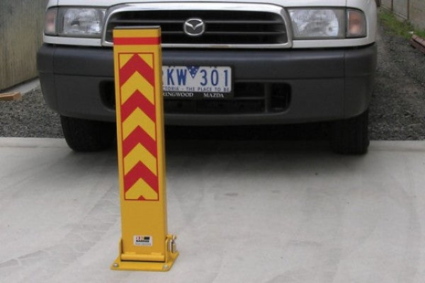 Fold down surface mount bollard 150x50x800