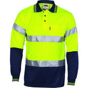 HIVIS Segment Taped Mircomesh Polo - Short Sleeve
