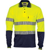 Hi Vis Two Tone Cotton Back Polos with Generic R.Tape - L/S