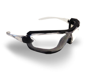Ambush Foam Padded Safety Glasses - Clear