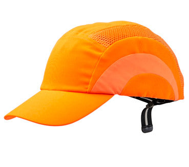 Hi Vis Bump Cap Flouro Orange - Standard Peak - BCFO