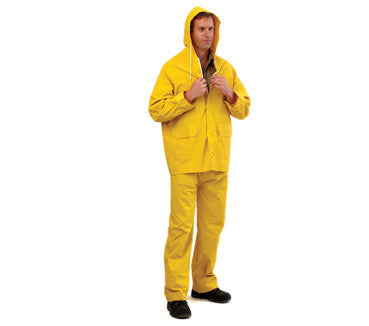 Rainwear - Yellow PVC Rain Jacket 3/4 Length (PVC Pants Sold Seperately)