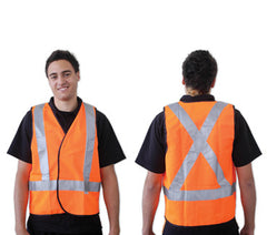 Flouro Day/Night Safety Vest 'X' Pattern