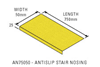 Anti-slip stair nosing 750x50x25, yellow