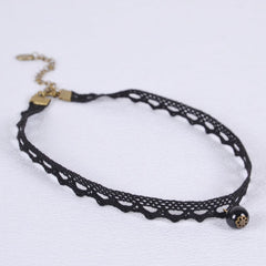 Black Pearl Choker Necklace Necklace - Korean Fashion