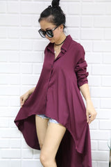 Korean Fashion - Shoes and Clothing - Long Sleeve Long Back Top - Top -  - Gangnam Styles - 8