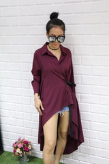 Korean Fashion - Shoes and Clothing - Long Sleeve Long Back Top - Top -  - Gangnam Styles - 10