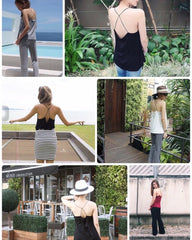 Korean Fashion - Shoes and Clothing - Strap Top Backless Sleeveless - Top Dress -  - Gangnam Styles - 8