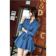 Korean Fashion - Shoes and Clothing - Casual Denim Dress - Casual Dress -  - Gangnam Styles - 1