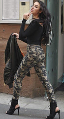 Korean Fashion - Shoes and Clothing - Camouflage High Waisted Jeans - Bottoms -  - Gangnam Styles - 2
