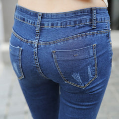 Korean Fashion - Shoes and Clothing - Skinny Shredded Jeans - Jeans -  - Gangnam Styles - 5