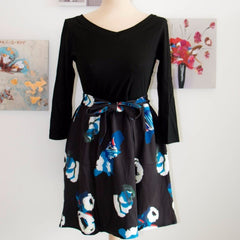 Korean Fashion - Shoes and Clothing - Korean Floral Cocktail Dress - Dress -  - Gangnam Styles - 4