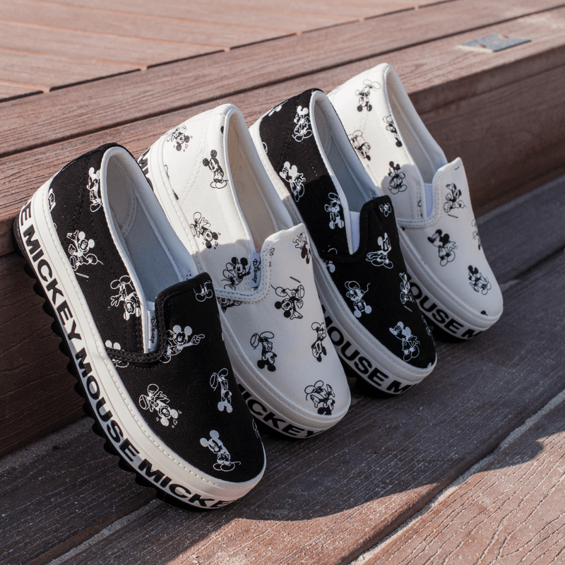 Mickey Mouse Platform Loafers Women's Shoes - Korean Fashion