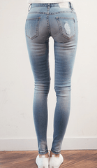 Korean Destroyed Skinny Jeans Jeans - Korean Fashion